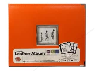 We R Memory Keepers Captions: We R Memory Keepers 3-Ring Window Album Classic Leather Orange