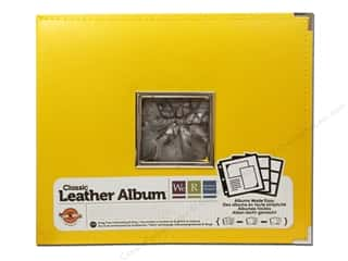 We R Memory Album Leather Ring Window Lemon