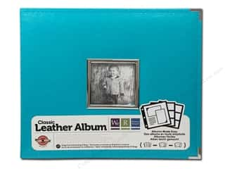 We R Memory Album Leather Ring Window Aqua