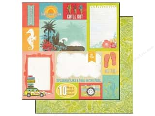 Echo Park Paper 12x12 Paradise Beach Surf Sand Sun (25 piece)