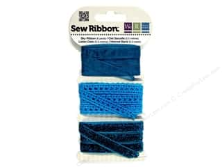 Clearance We R Memory Sew Ribbon Ribbon: We R Memory Sew Ribbon 9yd Assorted Sky