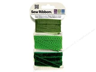 Clearance We R Memory Sew Ribbon Ribbon: We R Memory Sew Ribbon 9yd Assorted Grass