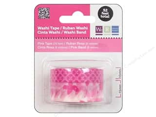 We R Memory Washi Tape 10mm & 15mm Astd Pink