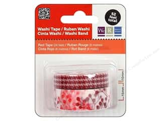 We R Memory Washi Tape 10mm & 15mm Astd Red