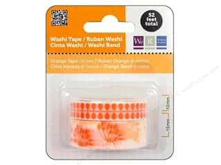 Glues, Adhesives & Tapes mm: We R Memory Washi Tape 10mm & 15mm Assorted Orange