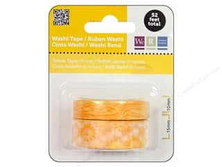 Making Memories mm: We R Memory Washi Tape 10mm & 15mm Assorted Yellow