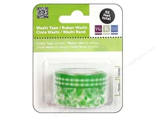 We R Memory Washi Tape 10mm &amp; 15mm Astd Green