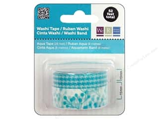Glue and Adhesives mm: We R Memory Washi Tape 10mm & 15mm Assorted Aqua