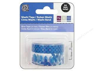 Glues, Adhesives & Tapes mm: We R Memory Washi Tape 10mm & 15mm Assorted Blue