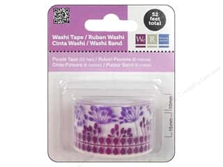 We R Memory Washi Tape 10mm & 15mm Astd Purple