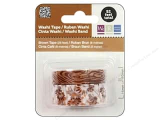 Glues/Adhesives Brown: We R Memory Washi Tape 10mm & 15mm Assorted Brown