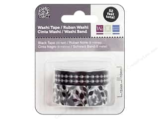 Glues, Adhesives & Tapes mm: We R Memory Washi Tape 10mm & 15mm Assorted Black & White