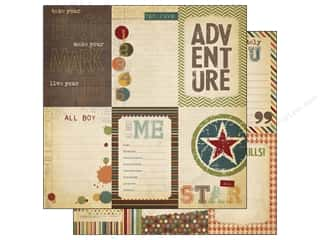 Making Memories Burgundy: Simple Stories Paper 12 x 12 in. Awesome Vertical Jopurnaling Card Elements (25 pieces)