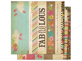 Simple Stories Paper 12 x 12 in. Fabulous Border/Title (25 piece)