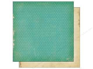 Simple Stories Paper 12 x 12 in. Fabulous Teal Dot/Note (25 piece)