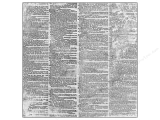 Bazzill Paper 12x12 Antique Dictionary Page 25pc