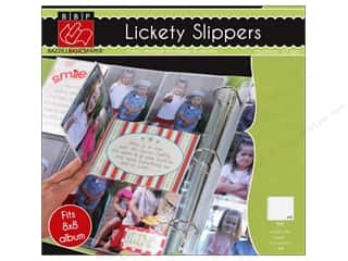 Bazzill Album Page Protector Lickety Slippers 8x8