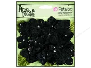 Petaloo FloraDoodles Hydrangeas Velvet Black