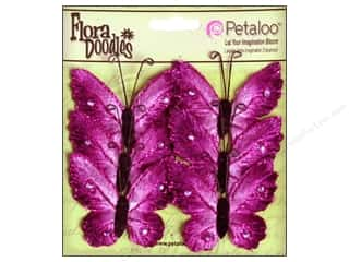 Petaloo FloraDoodles Butterflies Med Velvet Plum