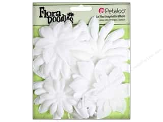 Flowers / Blossoms $3 - $4: Petaloo FloraDoodles Daisy Layers Large Glitter White