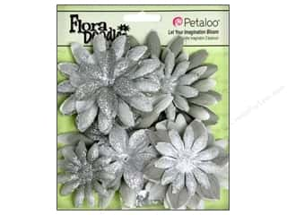 Petaloo FloraDoodles Daisy Layers Glitter Grey