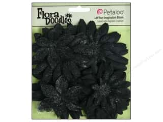 Petaloo FloraDoodles Daisy Layers Glitter Black