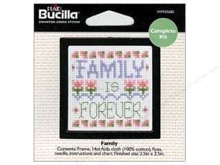 Weekly Specials Bucilla Beginner Cross Stitch Kit: Bucilla Cross Stitch Kit Beginner Mini Family