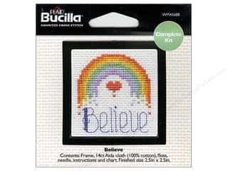 Weekly Specials Bucilla Beginner Cross Stitch Kit: Bucilla Counted Cross Stitch Kit 2 1/2 in. Mini Believe