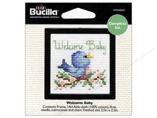 Weekly Specials Bucilla Beginner Cross Stitch Kit: Bucilla Cross Stitch Kit Beginner Mini Welcm Baby
