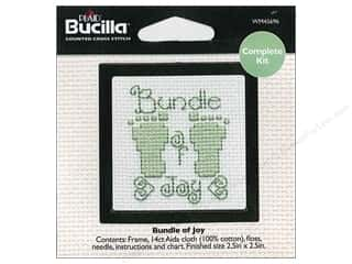 Weekly Specials Bucilla Beginner Cross Stitch Kit: Bucilla Cross Stitch Kit Beginner Mini BundleofJoy