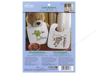 Weekly Specials Little Lizard King: Bucilla Xstitch Stamped Bibs Little Explorer