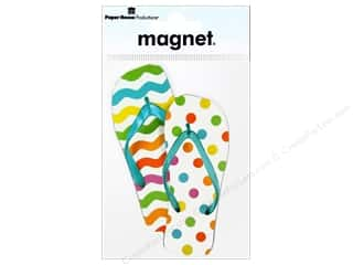 Magnets: Paper House Magnet Flip Flops Mixed