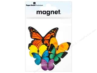 Magnets Blue: Paper House Magnet Butterflies