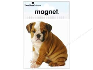 Paper House Magnets: Paper House Magnet Bulldog Puppy