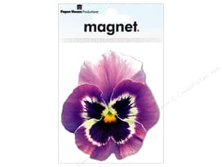 Magnets Flowers: Paper House Magnet Pansy Lavender