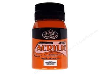 Royal Rub Ons Royal Paint Artist Acrylic: Royal Paint Artist Acrylic 16.9oz Cadmium Orange