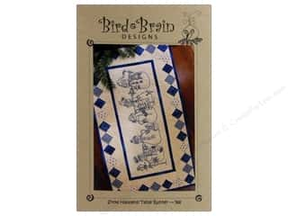Stitchery, Embroidery, Cross Stitch & Needlepoint Holiday Gift Ideas Sale: Bird Brain Designs Snow Happens Table Runner Pattern
