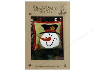 Wool Felt & Felting Patterns: Top Hat Snowman Pillow Pattern