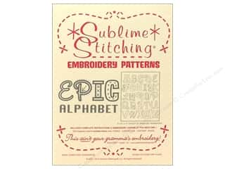 Transfers 11 in: Sublime Stitching Embroidery Transfers Epic Alphabet