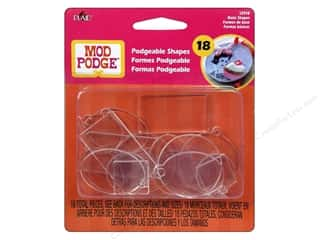 Plaid $4 - $5: Plaid Mod Podge Podgeable 3D Shapes Basics 18pc
