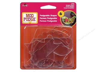 Mary's Productions $6 - $7: Plaid Mod Podge Podgeable 3D Shapes Designer 6pc