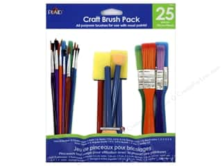 Machine Lint Brushes Art, School & Office: Plaid Paint Brush Craft Pack 25pc
