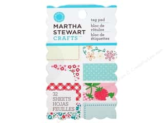 stitch flower: Martha Stewart Paper Pad Stitched Tag
