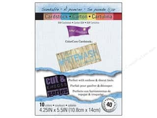 Coredinations Cdstk Pack 4.25&quot;x 5.5&quot; Whitewash