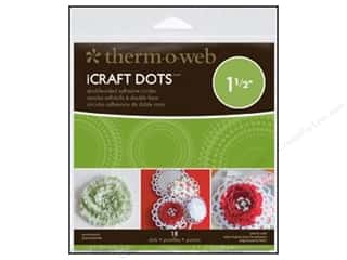 "Therm O Web Width: Therm O Web iCraft Adhesive Dots 1.5"" 18pc (4 pieces)"