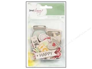 American Crafts Embellishment Dear Lizzy Neapolitan Print Chipboard Shapes