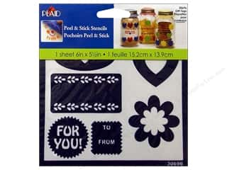 Tags Gifts: Plaid Stencil Peel & Stick Gift Tags