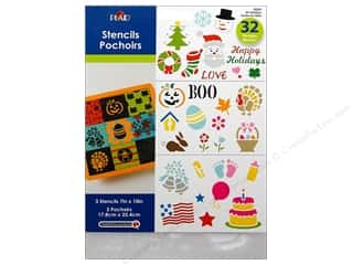 "Stenciling Party & Celebrations: Plaid Stencil Value Pack 7""x 10"" All Holidays"
