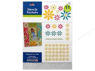 "Plaid Stencil Value Pack 7""x 10"" Daisies"