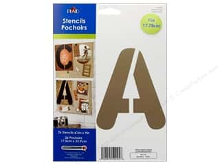 "Stenciling ABC & 123: Plaid Stencil Paper 7"" Alphabet Large Bubble Font"